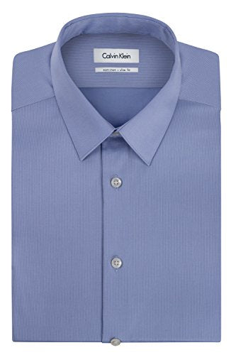Calvin Klein Men's Non Iron Slim Fit Solid  Dress Shirt