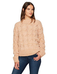 Women's Sweater Cable Detail Boxy Moon River
