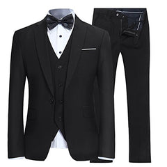 Men's Suit Slim Fit 3 Piece One Button Blazer Tux Vest & Trousers