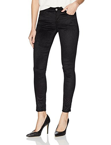 7 For All Mankind Women's Ankle Skinny Jean in Black Velvet