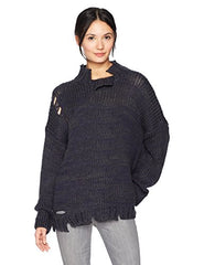 Women's Sweater Mixed Color Chunky Moon River