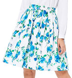 GRACE KARIN Women Pleated Vintage Skirts Floral Print