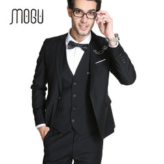 MOGU 2017 New Arrival Men's Slim Fit Suit 3 Piece