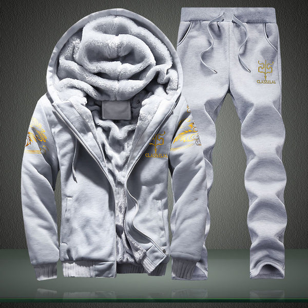 Men Casual  Winter Outwear Tracksuit Sets 4XL