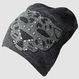 2017 New Rhinestone Oversized Beanie Hats For Women