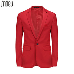 MOGU Pure Color Men's Blazer Slim Fit Wedding Dress For Men