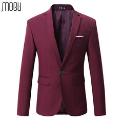 MOGU 2017 Hot-selling Mans Blazers Plus Sizes 5XL 6XL Cotton Solid Business Fashion Suit For Men High Quality