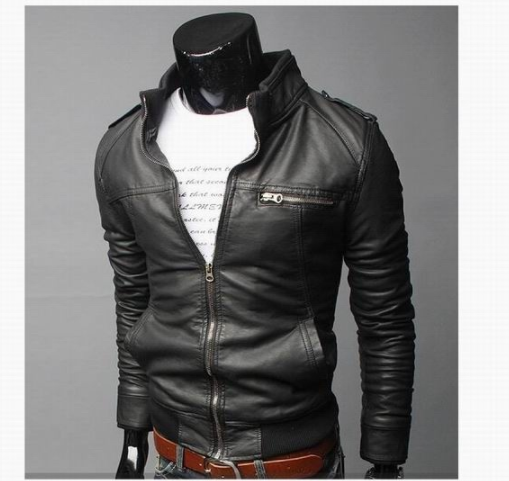 2017-18 Brand Man Zipper Leather Jackets