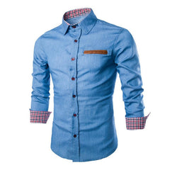 2017 Casual Stylish Slim Fit Long Sleeve Casual Formal Cotton Shirts