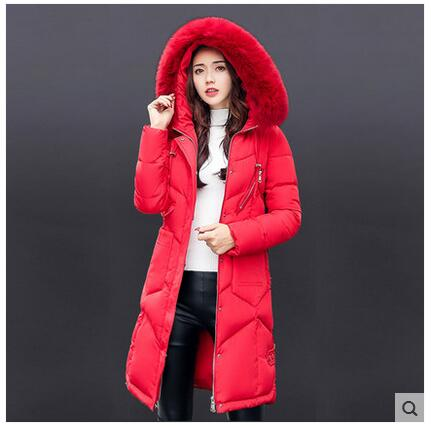 New Women Winter Coat 2017-18 Fashion Hooded Thickening Super warm Medium long