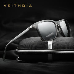VEITHDIA Brand Unisex Retro Aluminum+TR90 Sunglasses Polarized Lens For Men/Women