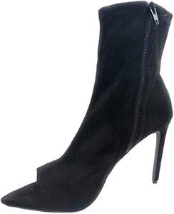 Laurent-8 - Liliana Mid Calf High Stilletto Heel Ankle Booties - ShoeFad