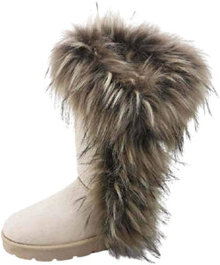 Frozen-11 By Bamboo Fur Boots For Women - ShoeFad