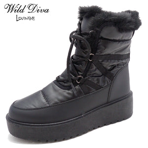 Orlando-01 - Wild Diva Faux Fur Ankle High Fashion Booties - ShoeFad