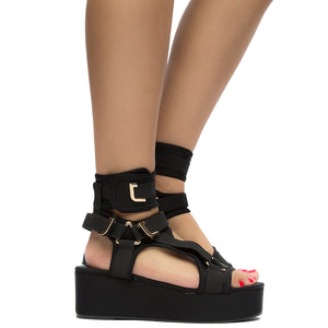 Mia - Bella Luna Wedges Cheap Heel Sandals For Women