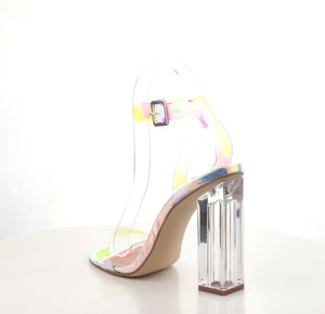 Mercy - Cape Robbin Transparent Square Chunky Heel Sandals - ShoeFad