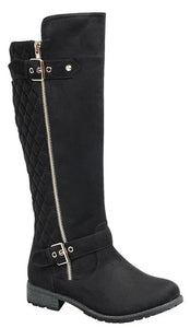 Mango-23 - Forever Link Lug Sole Knee High Riding Boots For Women - ShoeFad