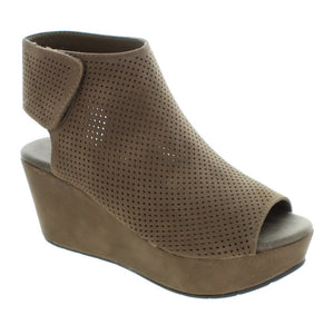 Natural-2 Pierre Dumas Chunky Stacked Heel Fashion Mule Bootie - ShoeFad