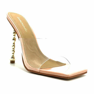 Jetter By Lemonade - Women Clear Transparent Square Toe Heels