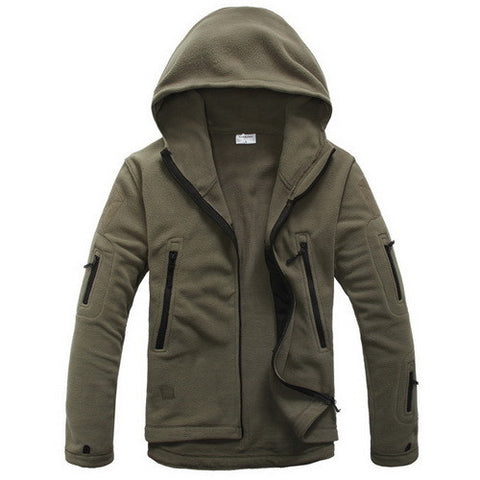 Military Tactical Softshell Fleece Jacket Hooded