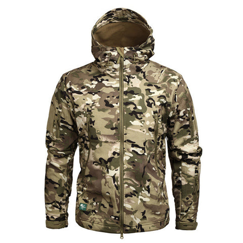 Military Men Hooded Jacket