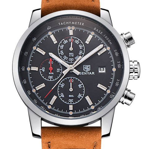 BENYAR Fashion Chronograph Men's Casual Quartz Wristwatch