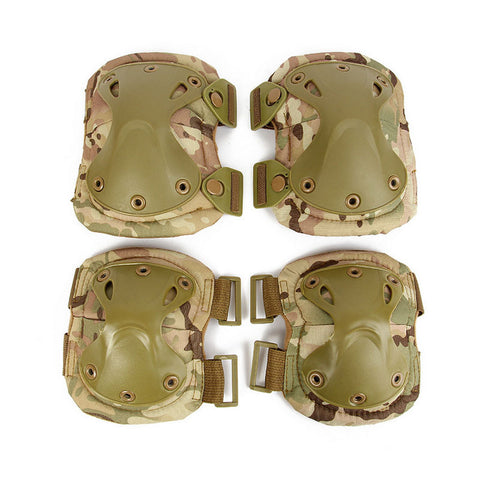 Tactical Elbows Knees Protective Safety Gear Pads Guard Set