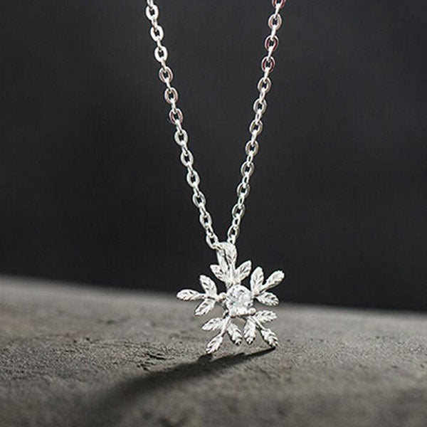 Cherry Blossoms 925 Sterling Silver Necklace