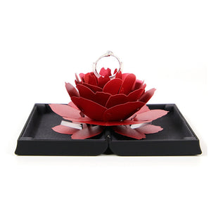 Unique Pop Up Rose Wedding Engagement Rings Box Surprise Jewelry Box