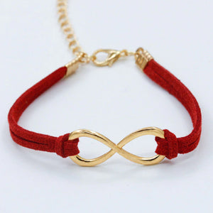 Infinity 8 Cross Leather Bracelets for Women