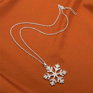 Shiny Rhinestone Snowflake Necklace