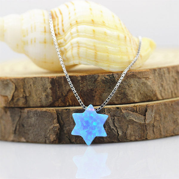 Snow Star Opal Necklace