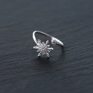 Snowflake 925 Sterling Silver Ring