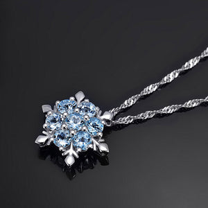 Snowflake Frozen Flower Necklace