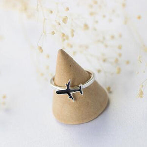 Sterling Silver Airplane Ring