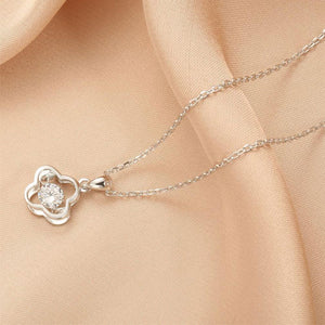 Stunning Flower 925 Sterling Silver Necklace