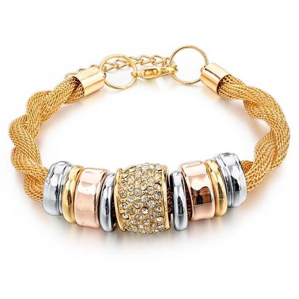 entwined gold metal bracelet 1