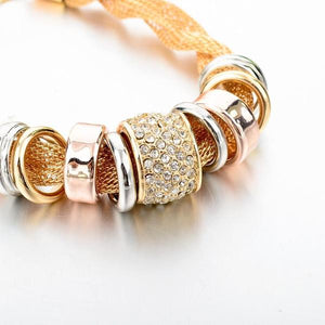 entwined gold metal bracelet 2