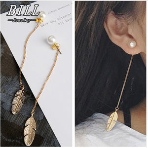 Leaf Feather Drop Brincos Bijoux Jewelry Earring