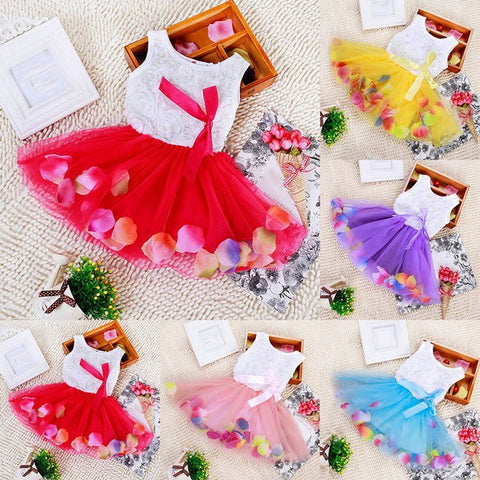 Petal Filled Tutu Dresses (7 Colors)