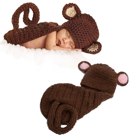 Baby Monkey Crochet Costume