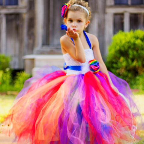 The Kameryn: Rainbow Tutu Dress