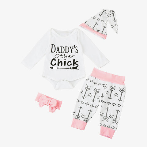 Daddy's Other Chick: 4 Piece Set (3M - 24M)