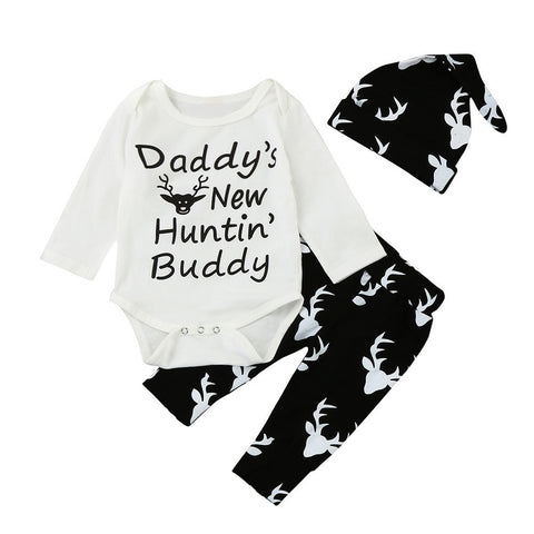 Daddy's New Hunting Buddy: 3 Piece Set (3M - 18M)