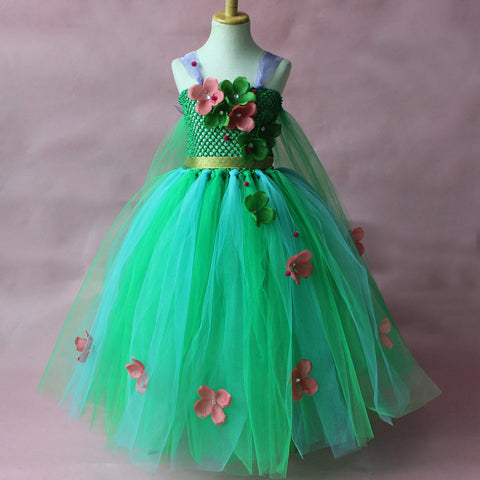 The Fleur: Green Flower Tutu Dress Ball Gown