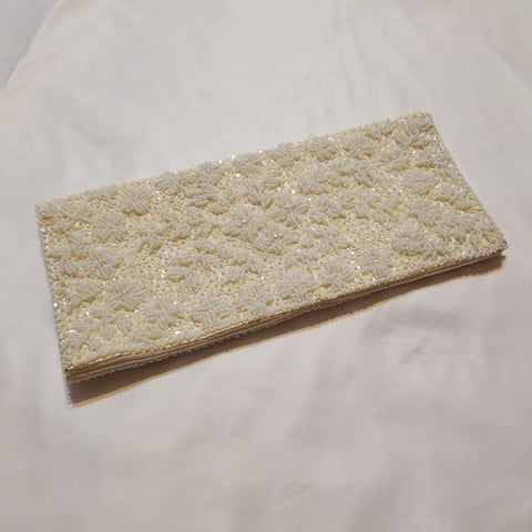 White Beaded Clutch Purse