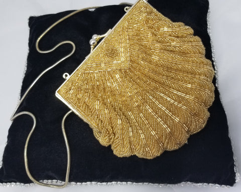 Gold beaded- Vintage
