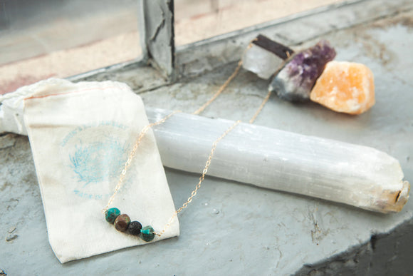 Reiki Infused handmade Turquoise Necklace healing jewelry
