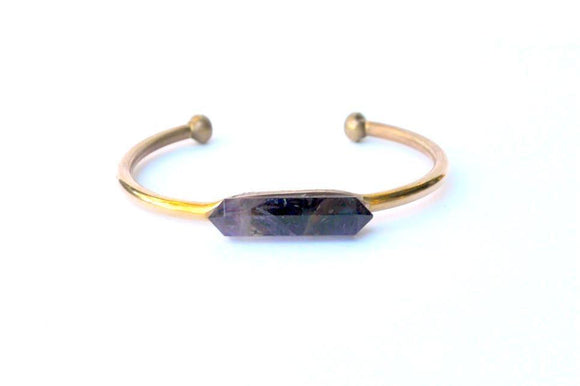 Brass Cuff - Amethys Point Cuff