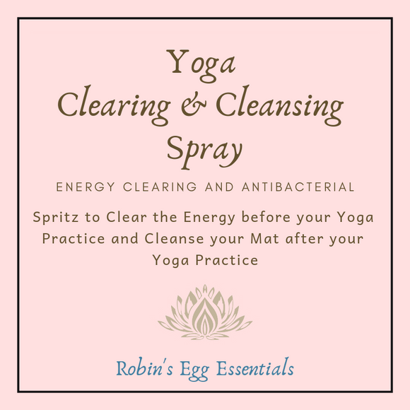 Yoga Clearing and Cleansing Spray for space and yoga mat